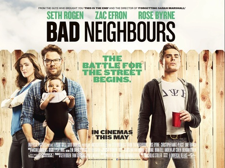 Bad Neighbours poster. Universal Pictures.